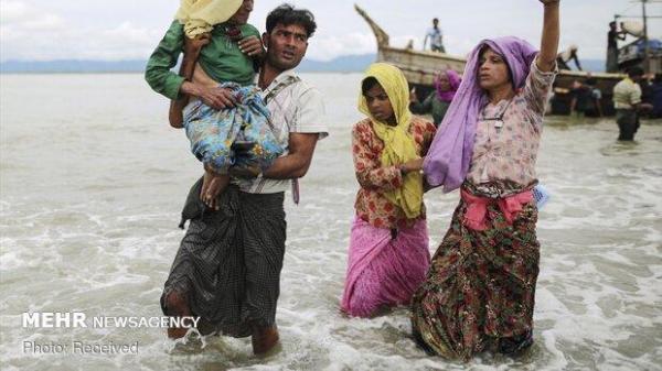 انتقال دومین گروه از پناهجویان روهینگیا به جزیره ای دورافتاده
