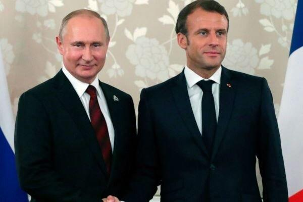 گفتگوی تلفنی پوتین و ماکرون پیرامون شرایط در شرق اوکراین