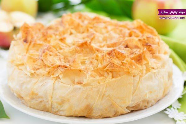 طرز تهیه پای سیب فوری با خمیر یوفکا