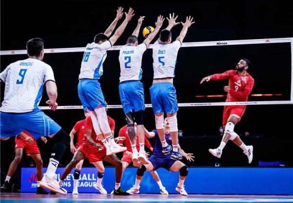 لیگ ملت های والیبال، فرانسه تسلیم اسلوونی شد، پیروزی آسان آمریکا مقابل آلمان