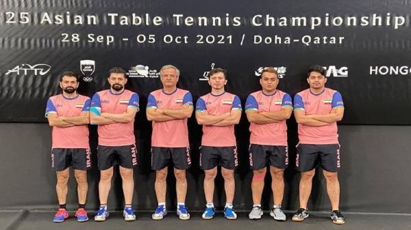 مردان تنیس روی میز ایران برنده دیدار مقابل هنگ کنگ